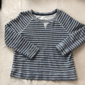 Blue and white Lou & Grey LOFT sweater